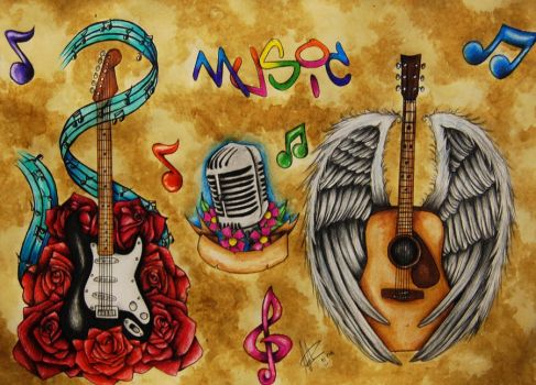 Music Flash 1 by Nevermore-Ink