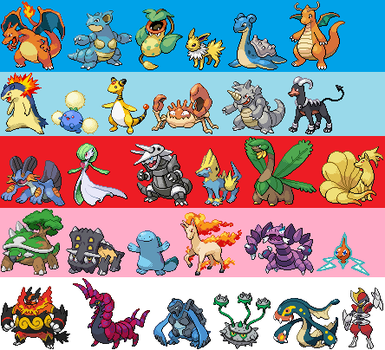 My pokemon teams through generations by SixSamuraiFTW
