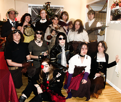 Steampunk Christmas Gathering. by Jheda