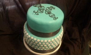Baby Shower Cake by Foolhardyheroes