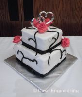 Roses and Vines cake by cake-engineering