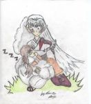Sesshomaru And Rin 1 by Rini-Dragoone