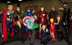 Avengers Assembling at Adelaide Oz Comic-Con 2013 by Old-Trenchy