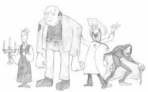 Young Frankenstein Lineup by CrazyChucky
