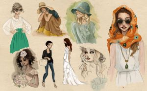 Fashion Sketches by liliribs