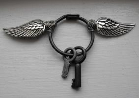 Winged keyring by Eisoptrophobic