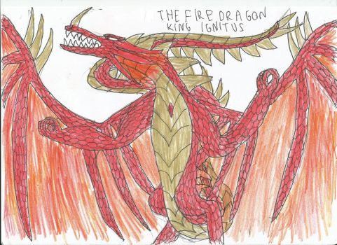Fire Dragon King Ignitus by smaugthegolden123