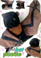 Fruit Bat Plushie by Butterscotch-Llama