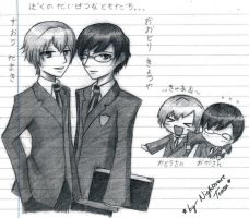 Ouran - Tamaki + Kyoya Sketch by NightmareTease