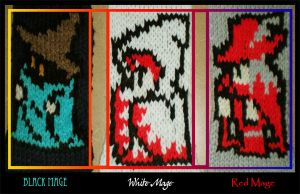 Mages of Final Fantasy Scarfs by MadMouseMedia