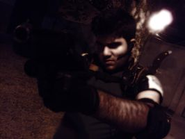 my cosplay Chris Redfield by Cris-Nemesis
