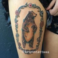 Bear by brynntattoos