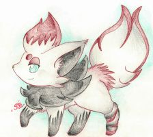 .:The Chrome Fox of Aozora by foreverbluejeans