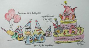 Angry Birds - Happy Birthday to the three of You! by AngryBirdsStuff