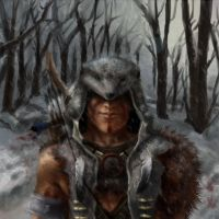 Man with the wolf hood by Miklche04