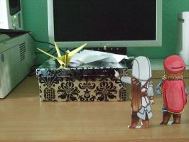 Ezio and Leonardo meet Origami by LadyPapillon85