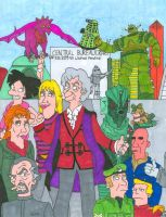 Doctor Who/ Futurama Third Doctor (With Color) by iamtherealbender