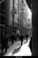 Barcelona Alley by jeanpaulvert