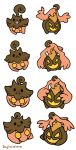 Gen 6 Stickers 61-62 with forms by hajimikimo
