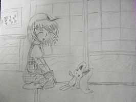 With The Stuffed Bunny by RKruger4