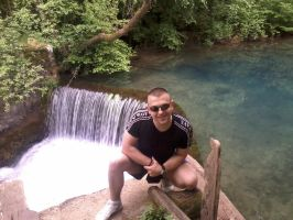 Me with a waterfall by Milosh--Andrich