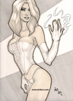 Emma Frost - 001 by nick-axe