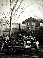 Bike B/W with warm touch by CourseWorkArts