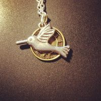 Time Flies Necklace by CommonDrabble