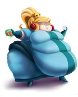 Fat Princess Samus by Eishiban
