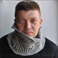 For HIM Bandoleer Scarf Cowl by TianaChe