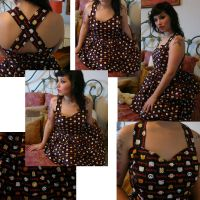 hello kitty teired dress by BambiBlast