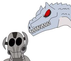 Ultron and Indominus Rex by alienhominid2000