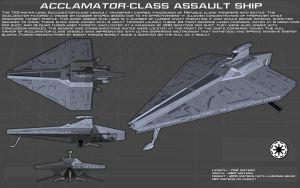 Acclamator-Class Assault ship ortho [New] by unusualsuspex