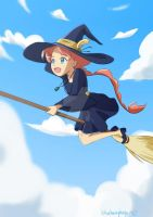 Little Witch Ahiru by blueberryhope