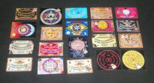 Collection of Miniature Ouija by grimdeva