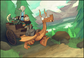 Mountain crossing by gregly