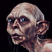 Gollum Painted Portrait by benke33