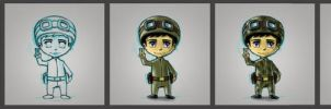 chibi marine soldier concept by cury