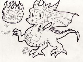 Spyro the dragon sketch by MKMwildcat