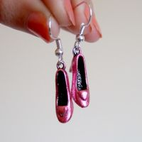 Pink ruby high heel shoe earrings by yael360