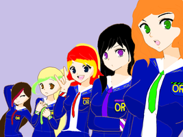 new students and uniforms by PhoenixNinja66