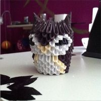 3D Origami - BabyOwl by inyeon