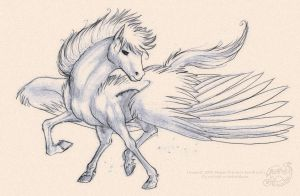 the winged horse Pegasus