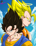 .:Gogeta and Vegito:. by Shadethebathog
