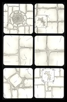Dungeon Tiles 25 thru 30 by NeuronPlectrum
