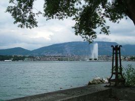 Jet de Eau fountain, Geneva by Alredhead