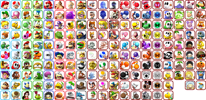 New Mario Kart - All Character Icons by Just-Call-Me-J