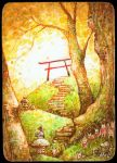 Babu at the Torii by frecklefaced29