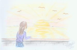 sadness at sunset by margemagtoto