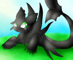 Toothless - A warm day by NewMoon-Dragoness